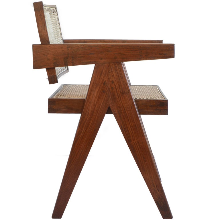 Pierre Jeanneret Office Cane Chair PJ-SI-28-A from Chandigarh