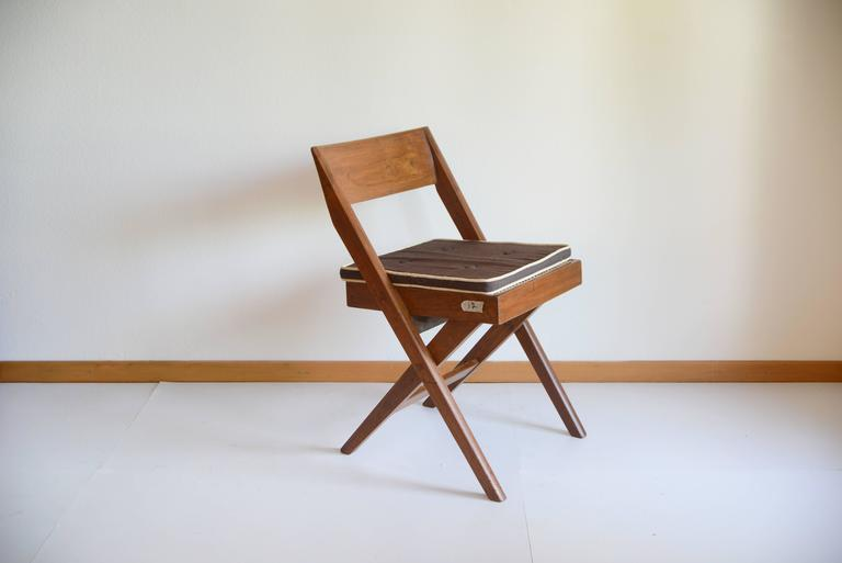 Mid-Century Modern Pierre Jeanneret Library Chair from Chandigarh PJ-SI-51-A For Sale