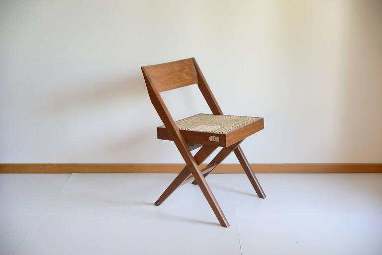 Indian Pierre Jeanneret Library Chair from Chandigarh PJ-SI-51-A For Sale