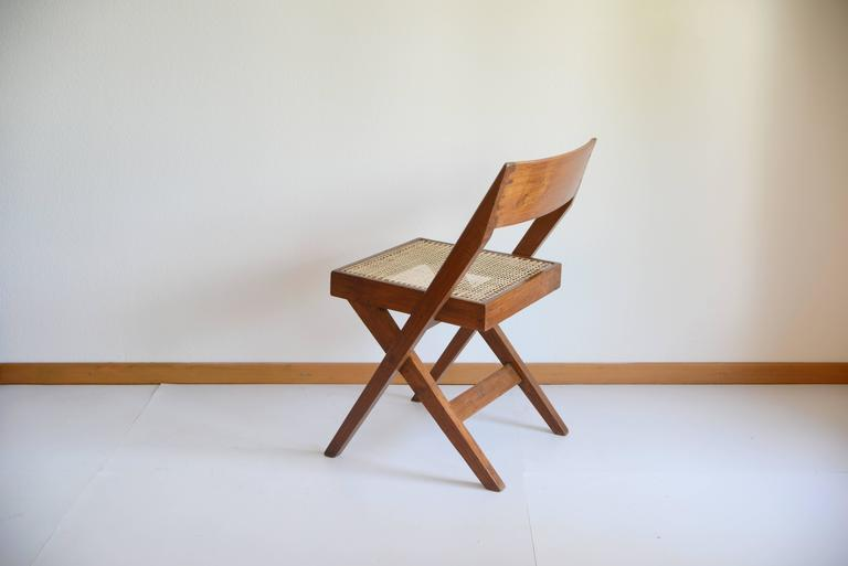 Pierre Jeanneret Library Chair from Chandigarh PJ-SI-51-A In Excellent Condition For Sale In Dietikon, CH