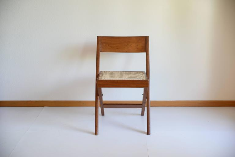 Mid-20th Century Pierre Jeanneret Library Chair from Chandigarh PJ-SI-51-A For Sale