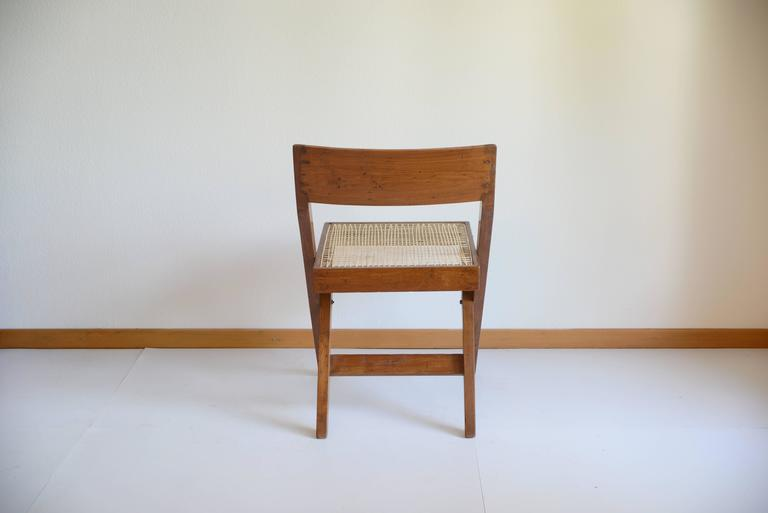 Cane Pierre Jeanneret Library Chair from Chandigarh PJ-SI-51-A For Sale