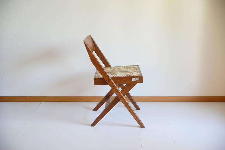 Pierre Jeanneret Library Chair from Chandigarh PJ-SI-51-A For Sale 1