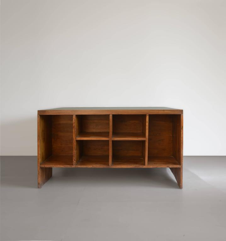 Mid-Century Modern Pierre Jeanneret Office Desk with Visible for Chandigarh For Sale