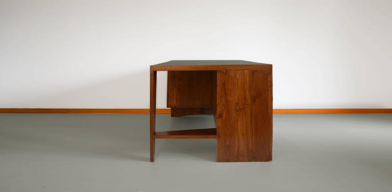 Indian Pierre Jeanneret Office Desk with Visible for Chandigarh For Sale