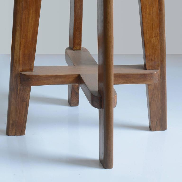"""Mid-Century Modern  Pierre Jeanneret """"High Stool with Canework"""" from Chandigarh For Sale"""