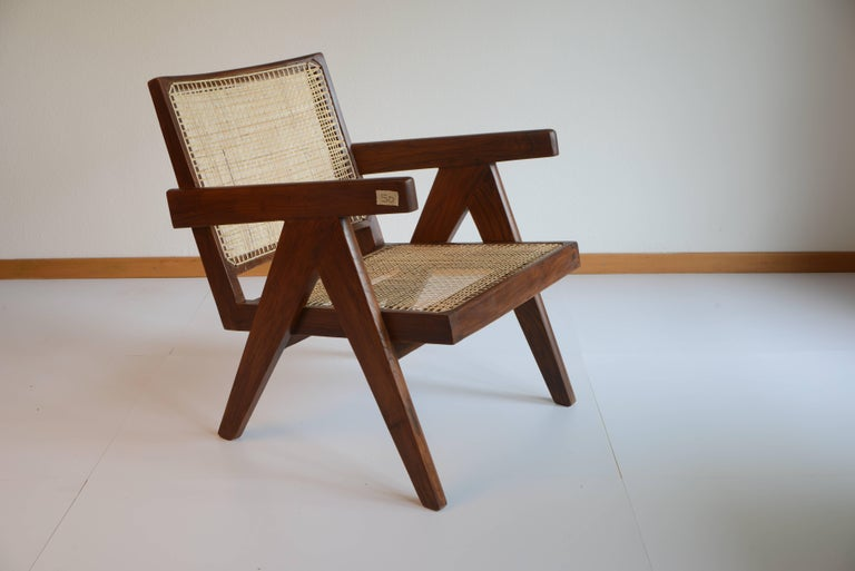 Pierre Jeanneret Easy Cane Chairs for Chandigarh PJ-SI-29-A In Excellent Condition For Sale In Zurich, CH