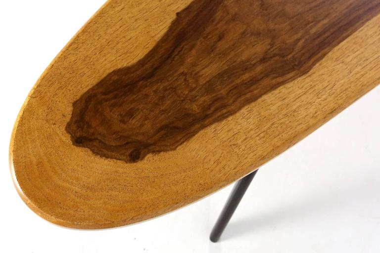 Vintage Italian Surfboard Coffee Table in Solid Walnut and Rosewood, 1960s 1