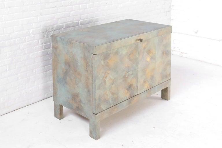 Brutalist Cabinet in Oak for De Coene, Belgium, 1970s For Sale 2