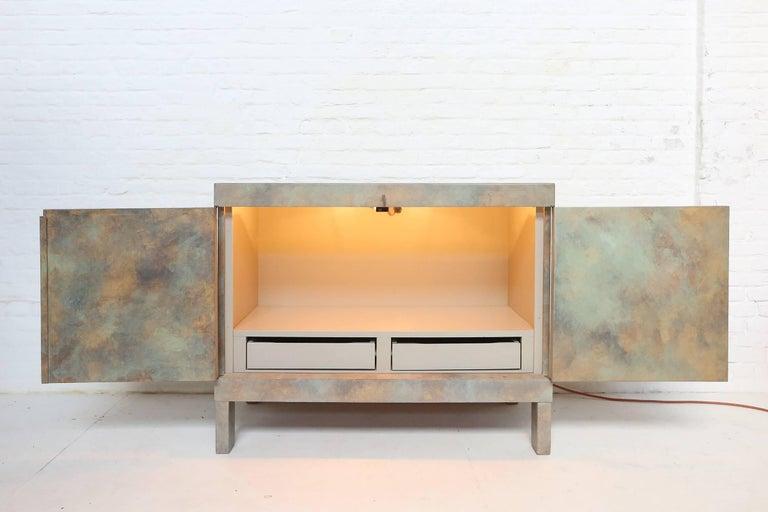 Brutalist Cabinet in Oak for De Coene, Belgium, 1970s For Sale 3