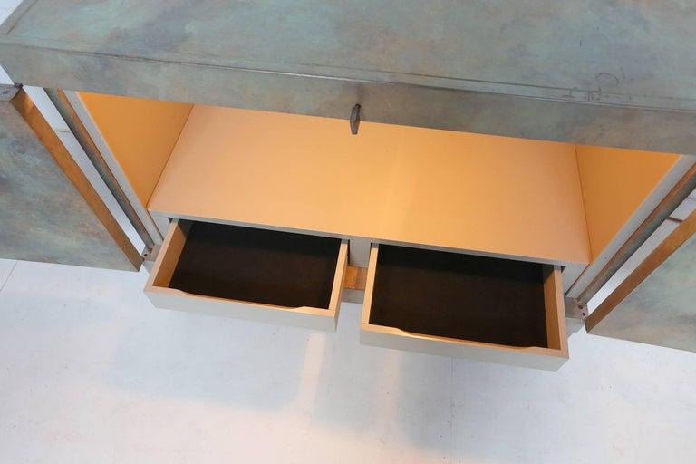 Brutalist Cabinet in Oak for De Coene, Belgium, 1970s For Sale 4