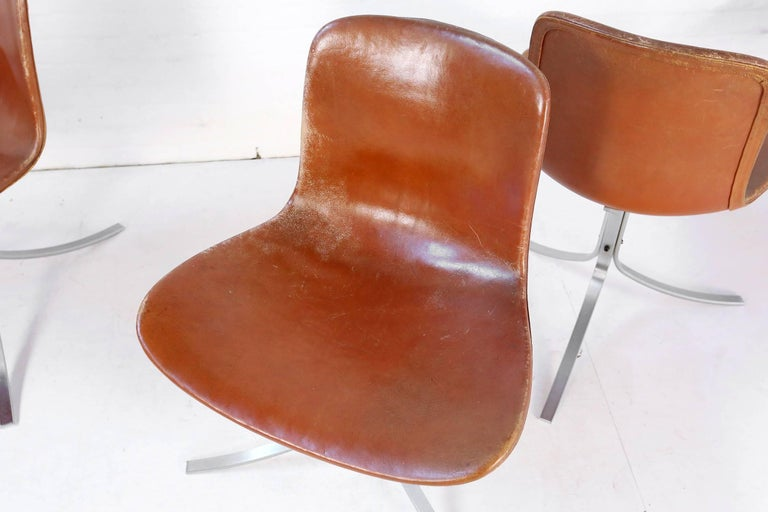 Set of Five PK9 Chairs by Poul Kjaerholm for Kold Christensen, 1960s In Good Condition For Sale In Ghent, BE