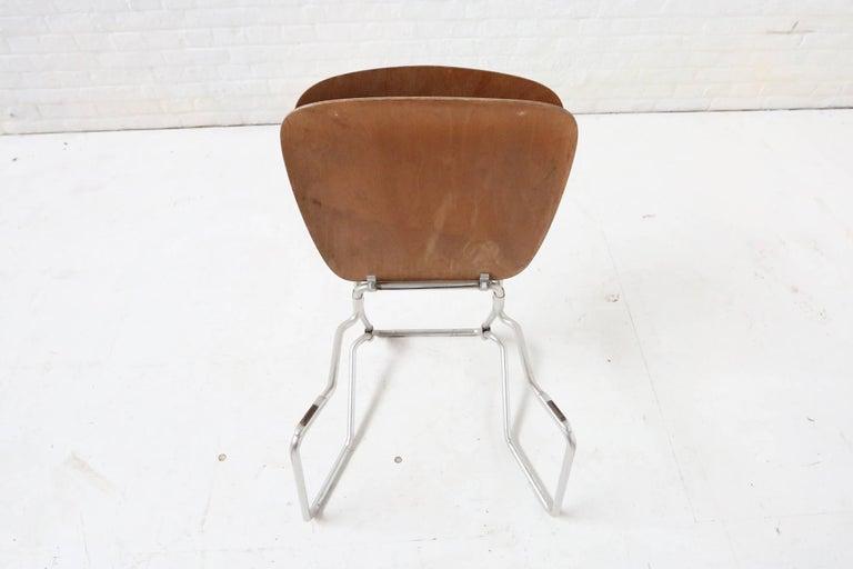 First Edition Aluflex Chairs by Armin Wirth Switzerland, 1950s For Sale 3