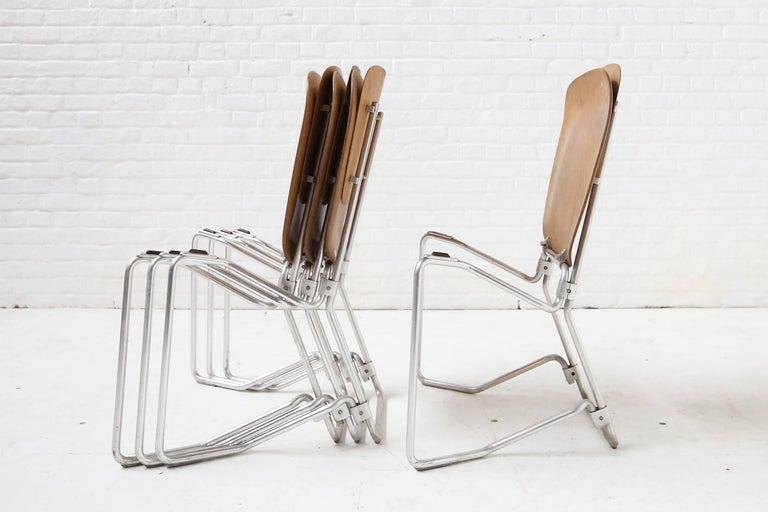 First Edition Aluflex Chairs by Armin Wirth Switzerland, 1950s In Good Condition For Sale In Ghent, BE