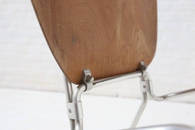 First Edition Aluflex Chairs by Armin Wirth Switzerland, 1950s For Sale 2