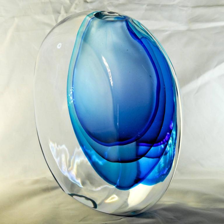 Mid-Century Modern Antonio da Ros for Cenedese, Momento Vase, Splendid Massiccio Masterpiece For Sale