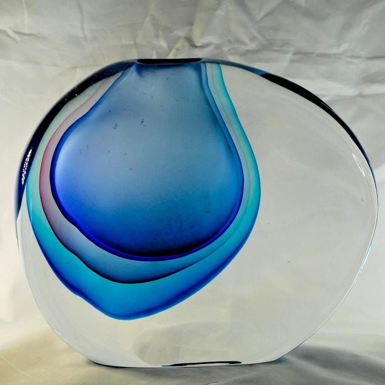 Mid-20th Century Antonio da Ros for Cenedese, Momento Vase, Splendid Massiccio Masterpiece For Sale
