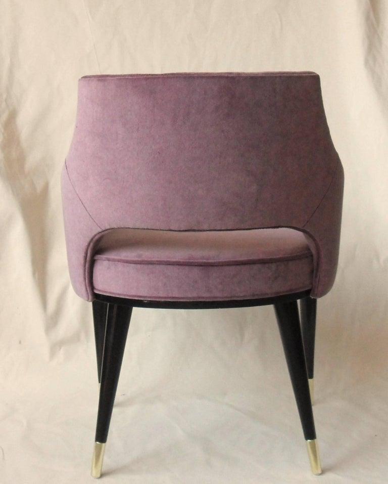Mid-Century Modern Set, Ten Dining Armchair, Tufted Cotton Velvet, Midcentury Style, Luxury Details