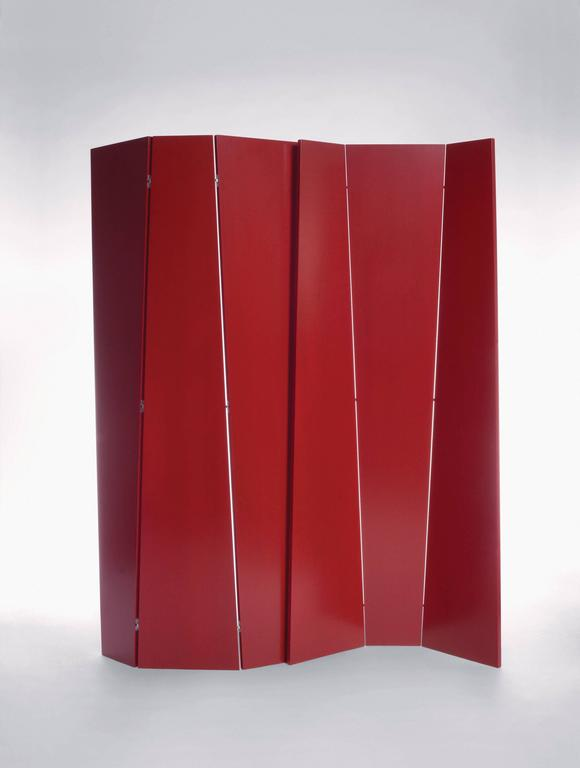 Modern Handmade Tri-Fold Opaque Lacquer Folding Screen / Room Divider For Sale