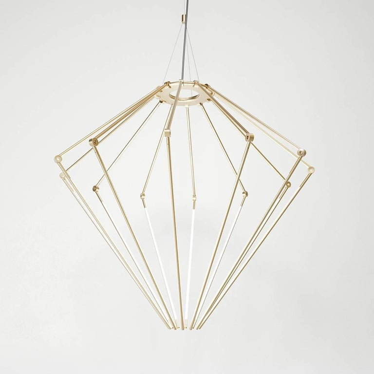 Introducing the latest achievement in lighting design from Brooklyn-based studio, Juniper—the THIN chandelier is an elegant fixture that appears to suspend and illuminate magically, as if there is no wiring or weight. Juniper collaborated with