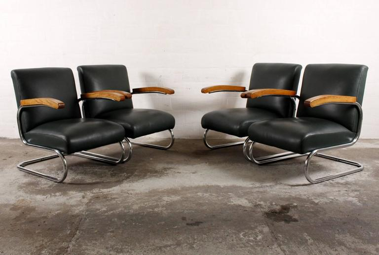 four thonet s411 lounge chairs at 1stdibs. Black Bedroom Furniture Sets. Home Design Ideas