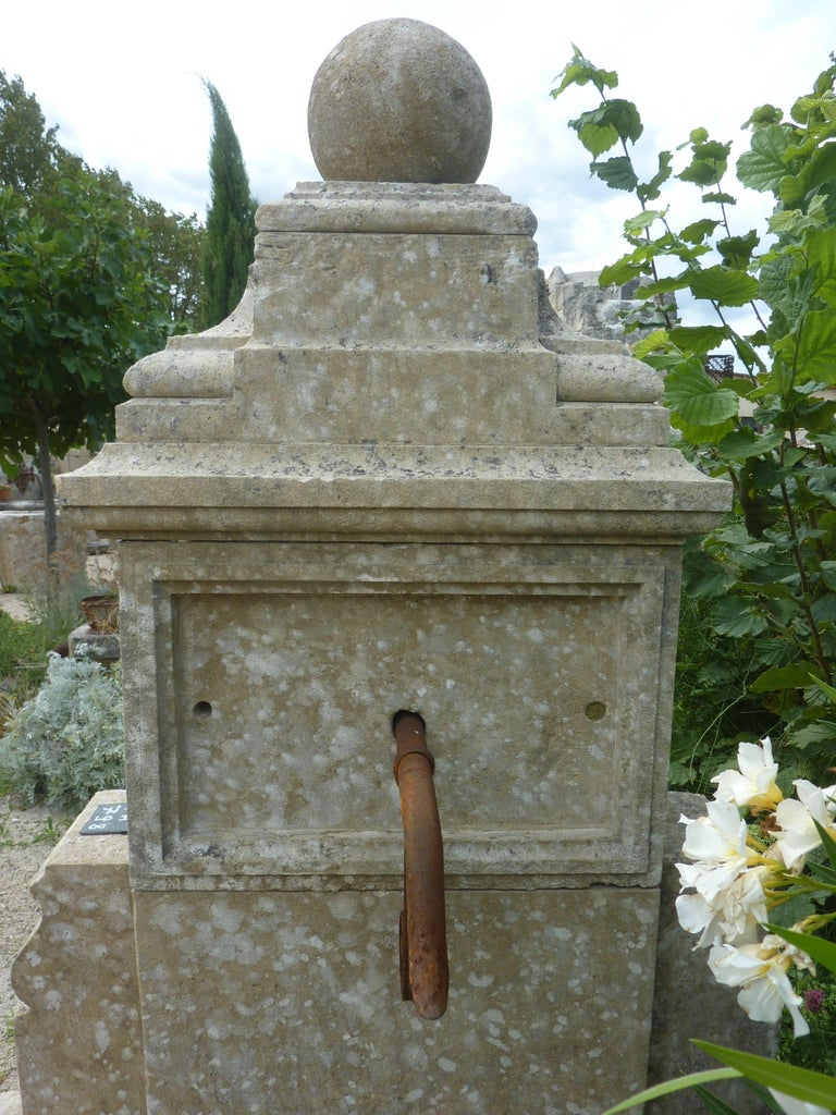 Elegant Ancient Garden Fountain Handcrafted In Stone With Two Basins Provence For Sale At 1stdibs
