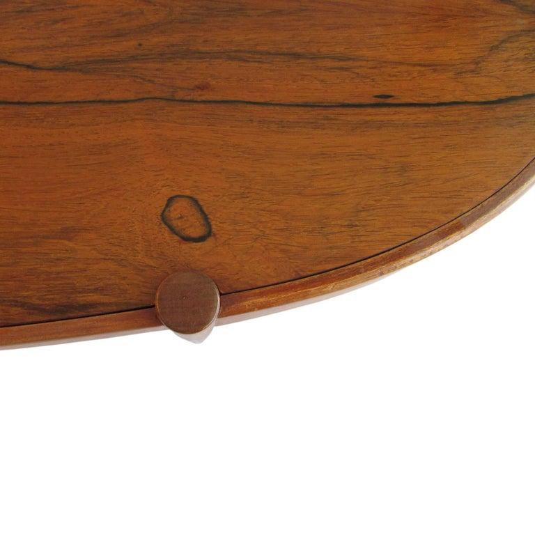 Midcentury Rosewood Elliptic Coffee Table 6