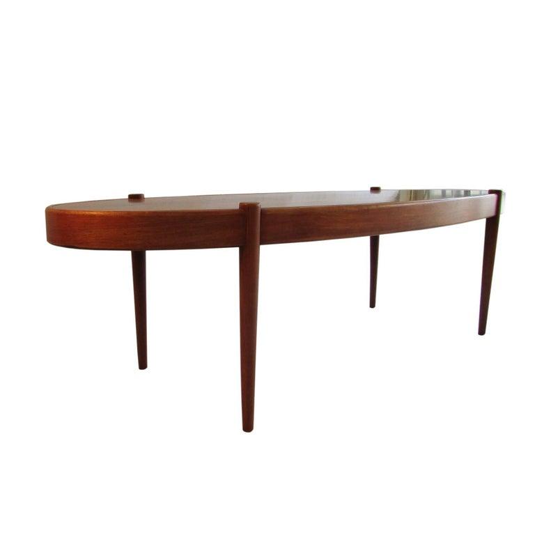 Midcentury Rosewood Elliptic Coffee Table 3