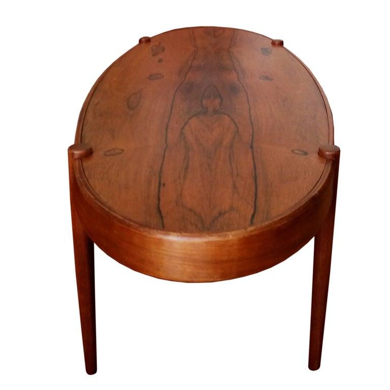 Midcentury Rosewood Elliptic Coffee Table 4