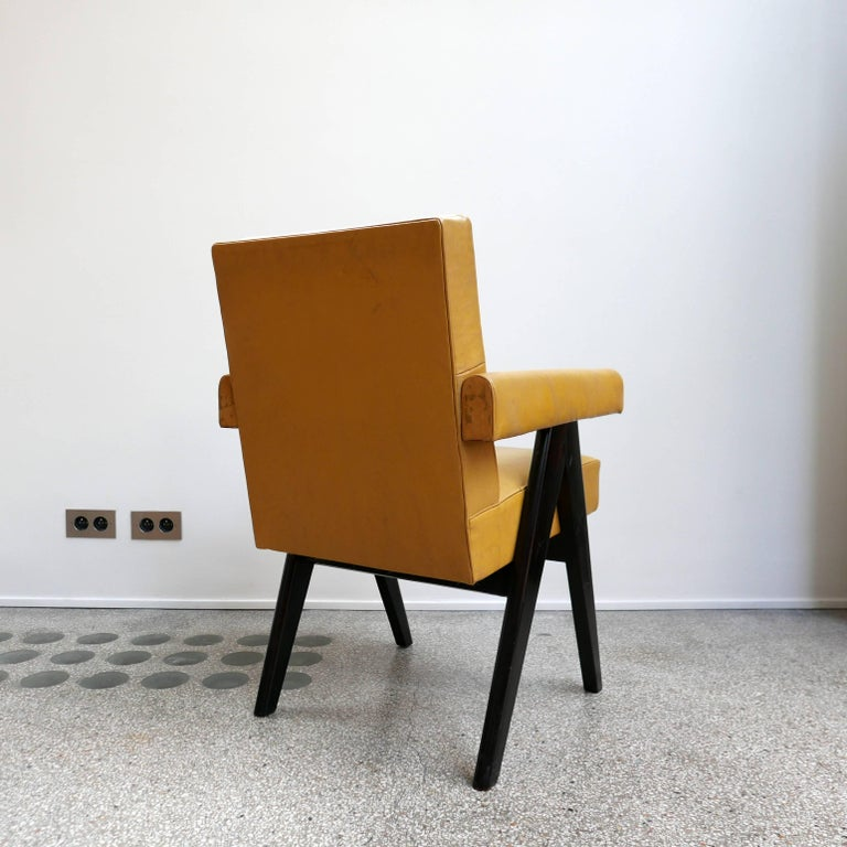 Indian Pierre Jeanneret, PJ-SI-30-A, Committee Armchair, Chandigarh, circa 1953 For Sale