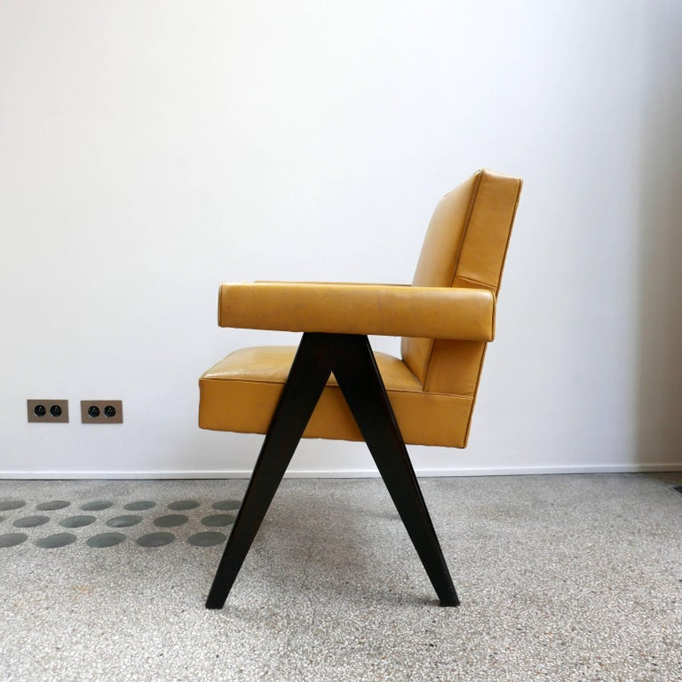 Mid-20th Century Pierre Jeanneret, PJ-SI-30-A, Committee Armchair, Chandigarh, circa 1953 For Sale