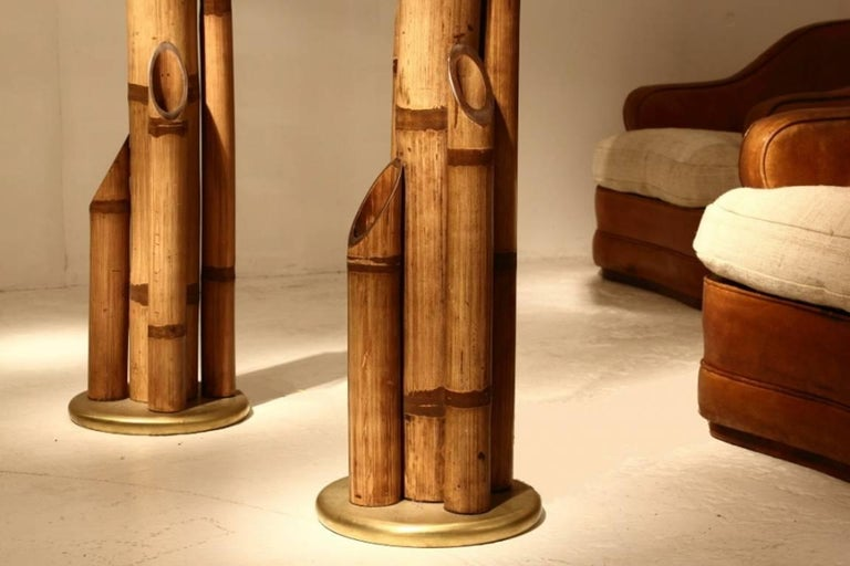 Pair Of Bamboo Lamps At 1stdibs