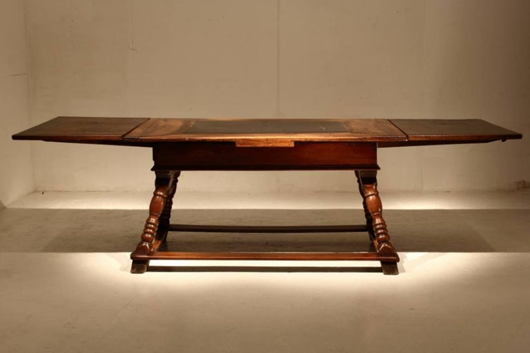 17th century swiss draw leaf table at 1stdibs for Table th width