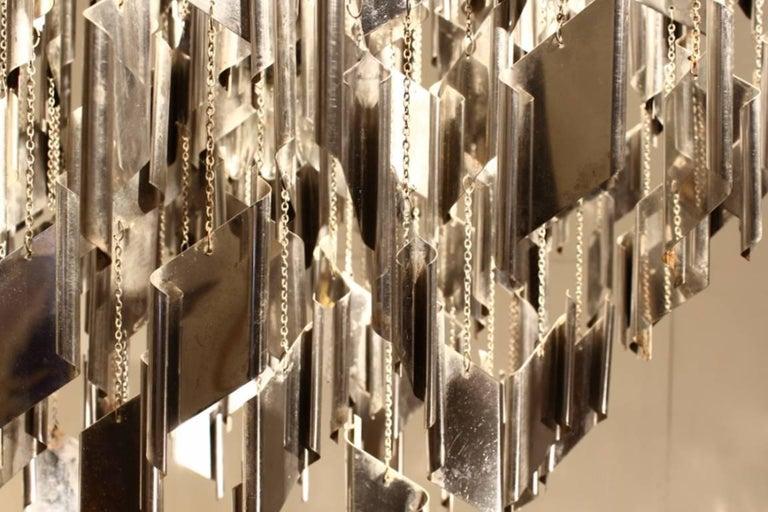 1960s Italian metal chandelier.