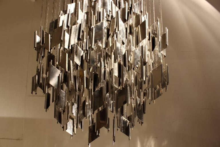 1960s Metal Chandelier In Good Condition For Sale In Husbands Bosworth, Leicestershire