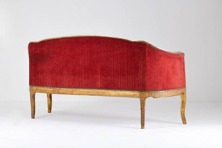 Hand-Carved Rare 18th Century Italian Sofa For Sale