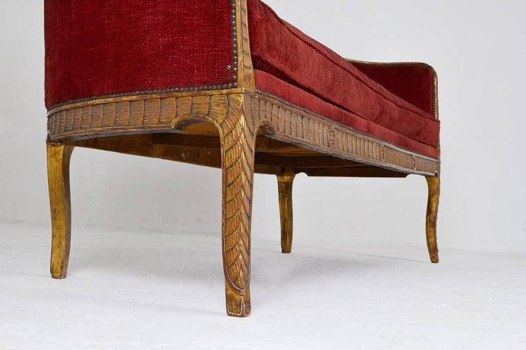 Wood Rare 18th Century Italian Sofa For Sale