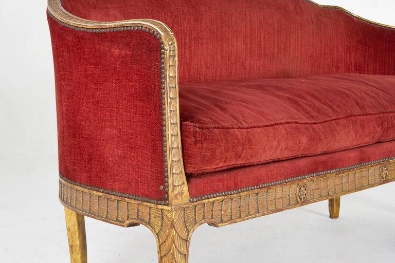 Rare 18th Century Italian Sofa For Sale 3