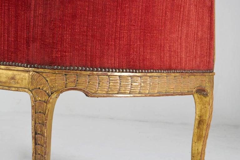 Rare 18th Century Italian Sofa For Sale 9
