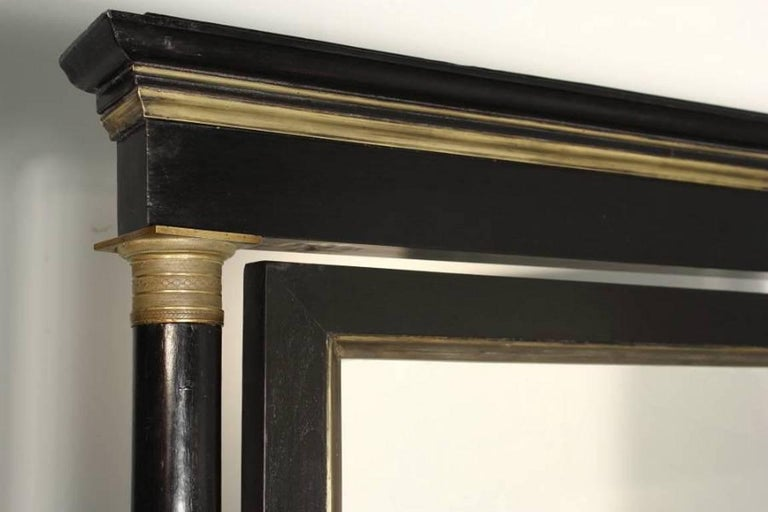 Ebonized 19th Century French Cheval Mirror For Sale
