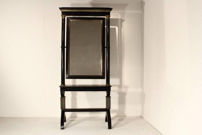 19th Century French Cheval Mirror In Good Condition For Sale In Husbands Bosworth, Leicestershire