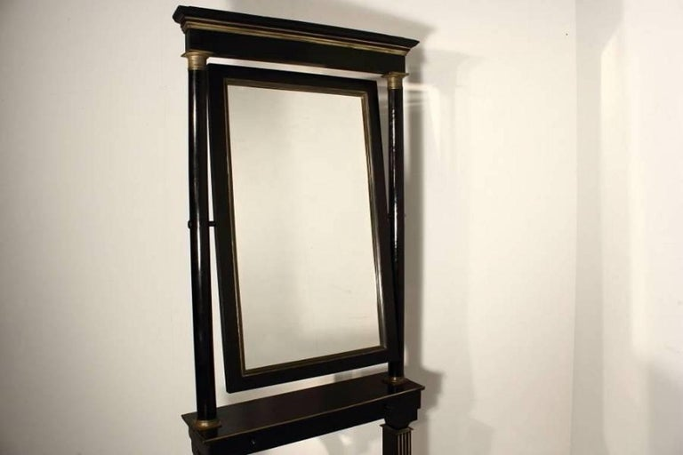 Wood 19th Century French Cheval Mirror For Sale