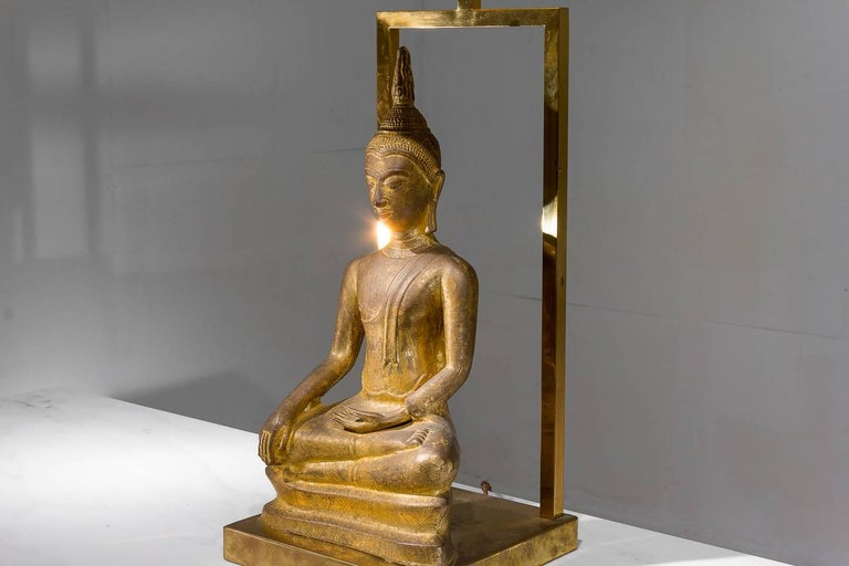 1960s Buddha Lamp In Good Condition For Sale In Husbands Bosworth, Leicestershire
