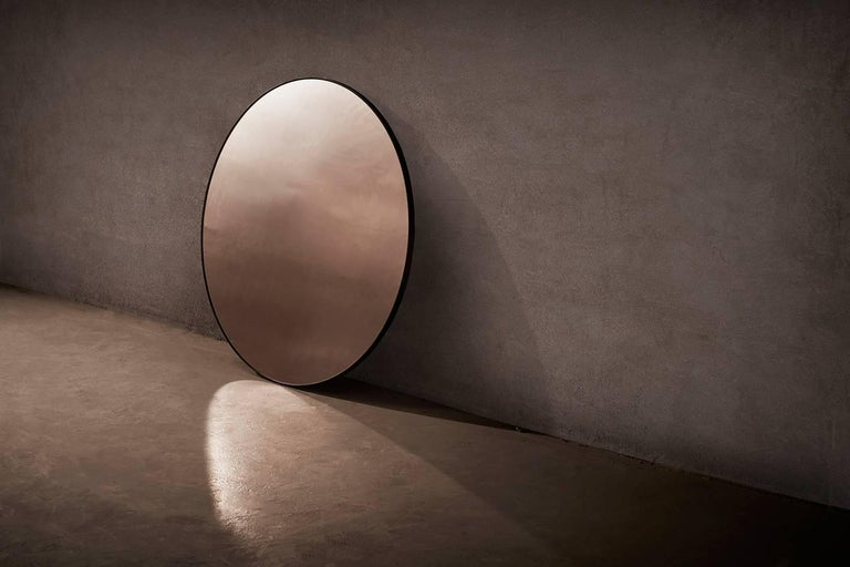 British Port Round Minimalist Circular Mirror by Novocastrian For Sale