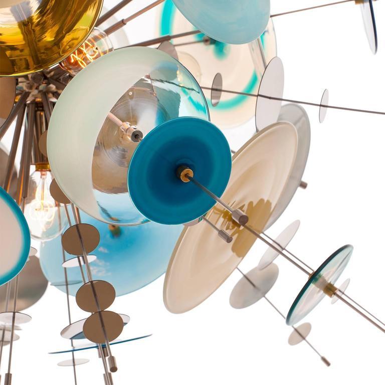 Confetti Glass Sapphire Chandelier by AVRAM RUSU STUDIO 3