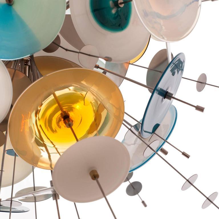 Confetti Glass Sapphire Chandelier by AVRAM RUSU STUDIO 5