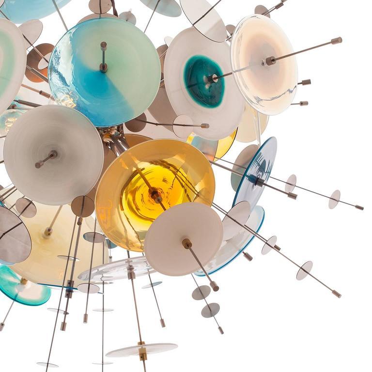 Confetti Glass Sapphire Chandelier by AVRAM RUSU STUDIO 2