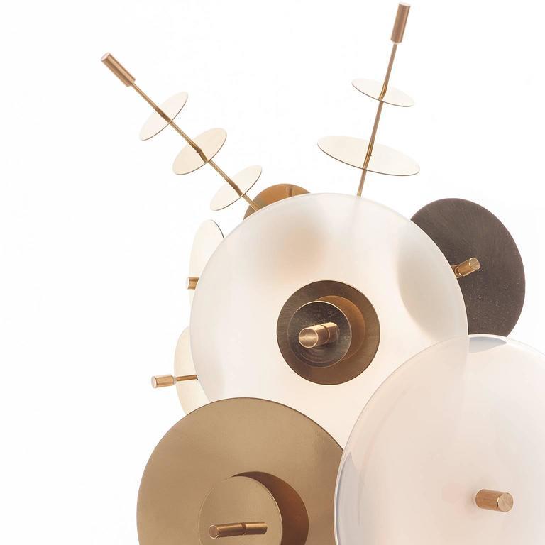 American White Confetti Collection Sconce by AVRAM RUSU STUDIO For Sale