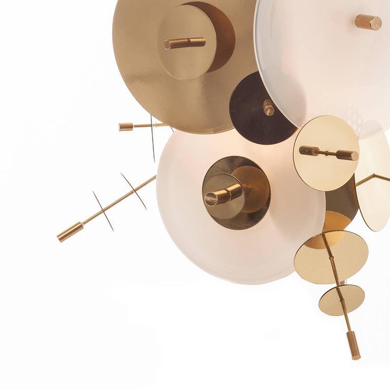 White Confetti Collection Sconce by AVRAM RUSU STUDIO In New Condition For Sale In Brooklyn, NY