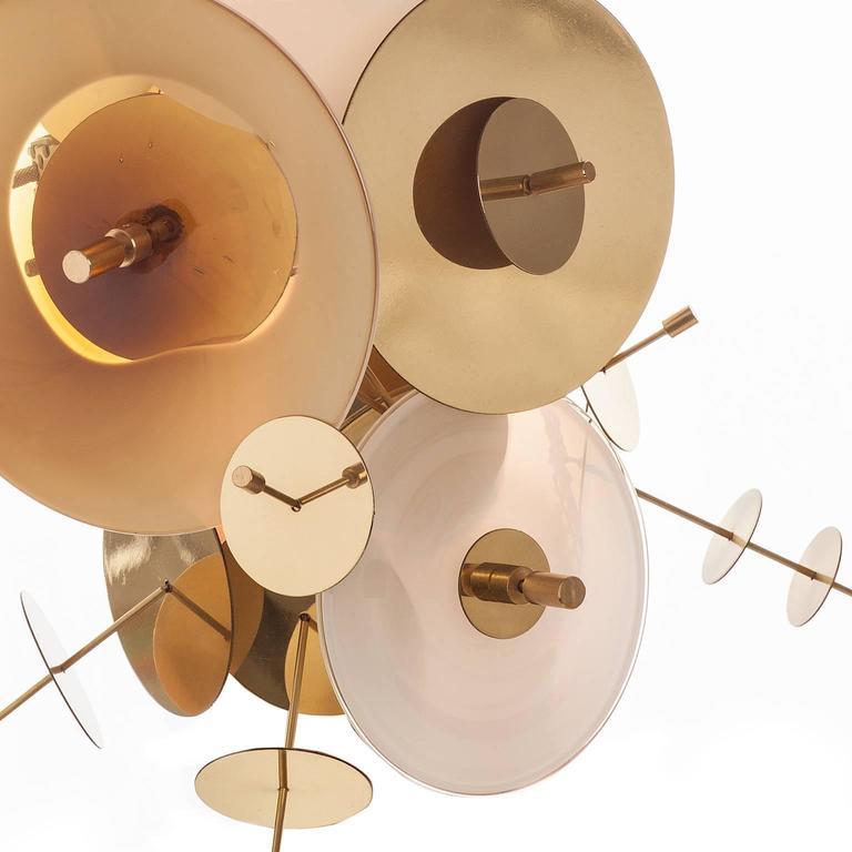American Amber Confetti Collection Sconce by AVRAM RUSU STUDIO For Sale